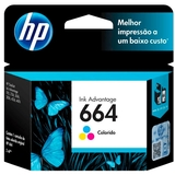 Cartucho de Tinta HP 664 Color 100  P�ginas F6V28AB